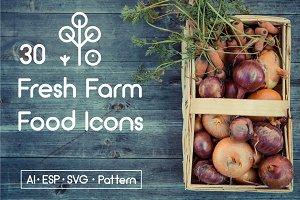 Line Farm Icons.