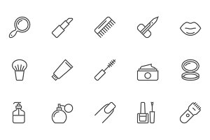 Beauty and Cosmetic Icons