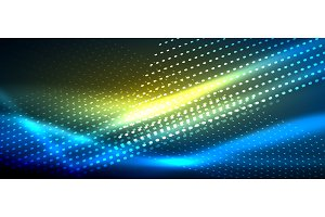 Neon smooth wave digital abstract background