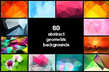 60 Abstract Polygon Backgrounds