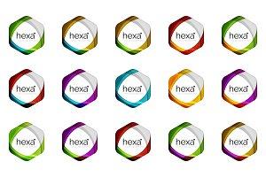 Hexagon vector logo icon templates