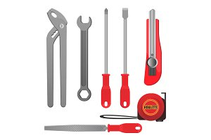 Convenient metal tools for repairement and building set