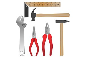 Metal and wooden tools for repairment and building
