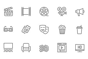 Entertainment Line Icons