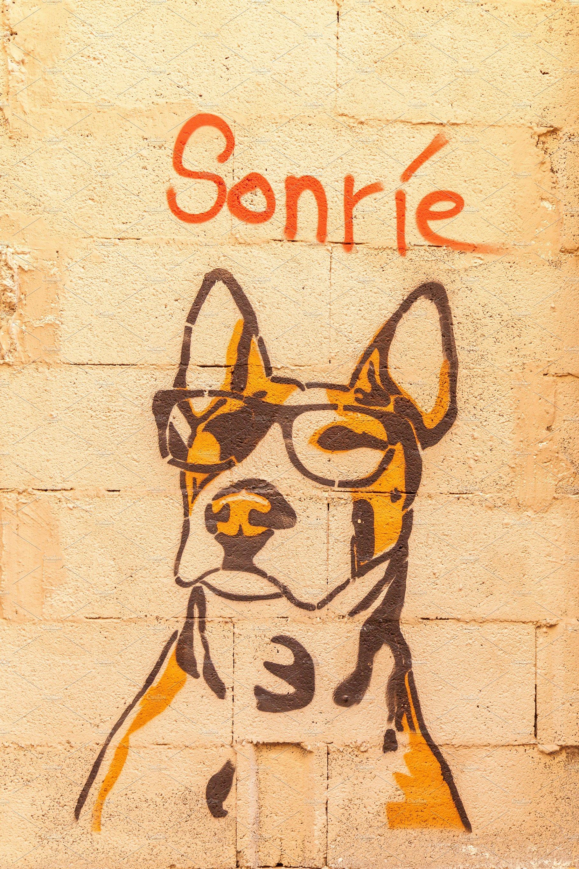 Graffiti dog. ~ Arts & Entertainment Photos ~ Creative Market
