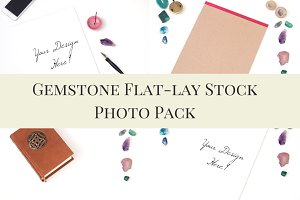 Boho Gemstone Flat-Lay Photo Pack
