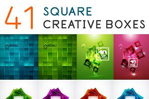 Set of creative square backgrounds