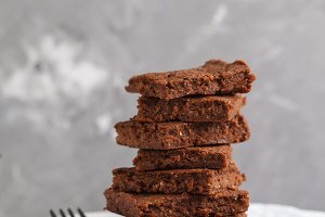 healthy vegan brownie
