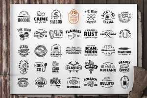 Vintage Badges Logo Pack