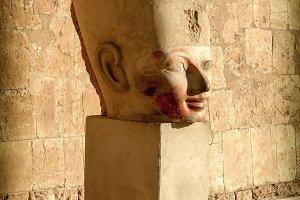 Bust of Hatshepsut at Deir el-Bahari