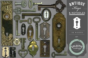 Antique Keys and Keyholes Graphics