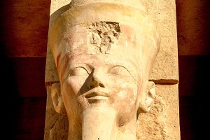 Bust of Hatshepsut at Deir el-Bahari