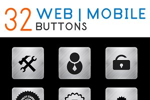 Metal web buttons collection