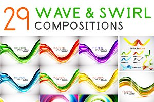 Waves and swirls collection