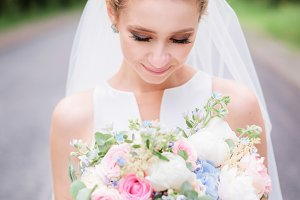 Portrait of a gorgeous bride