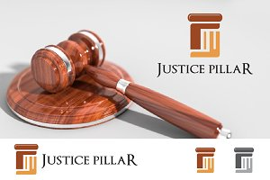 Pillar Law Attorney Logo in F Letter