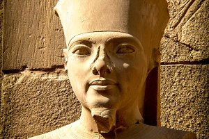 Bust of Tutankhamun in Karnak