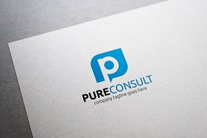 Pure Consult Letter P Logo