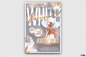 White Summer Flyer Template