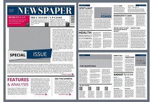 Vector design template of newspaper