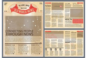 Vector design template of vintage newspaper