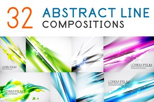 Set of shiny abstract backgrounds