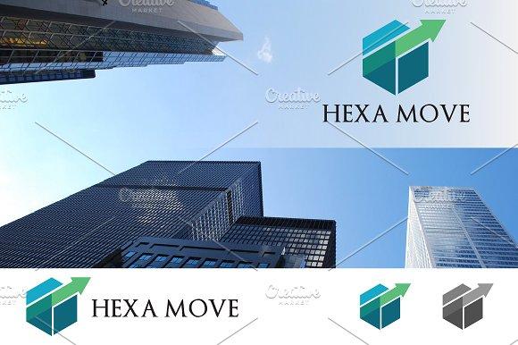 Hexagon Business Financial Logo