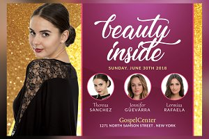 Beauty Inside Church Flyer