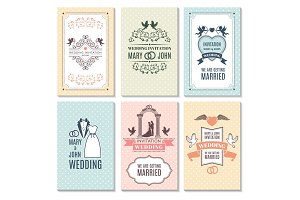 Design template of wedding invitation cards