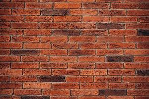 Red brick wall texture
