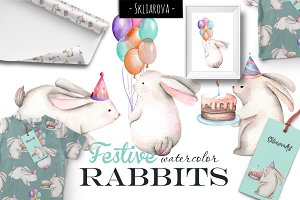 Festive Rabbits set