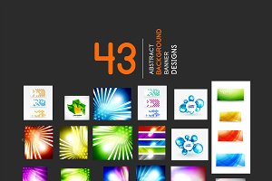 Abstract banner designs collection