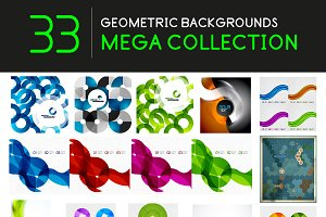 33 geometric backgrounds