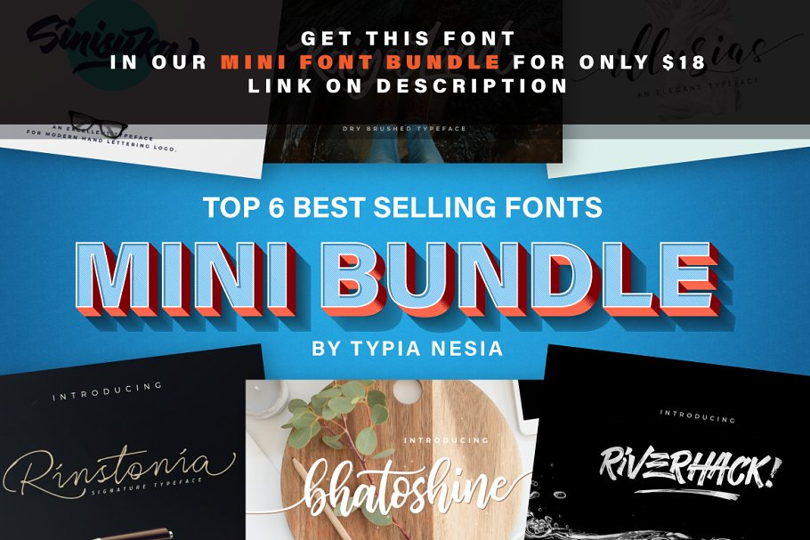 Riverhack Brush ~ Display Fonts ~ Creative Market