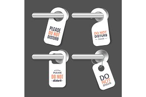 Do Not Disturb Sign and Door Handle