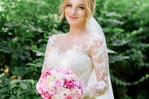 Bride in classy dress