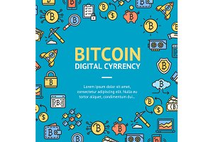 Bitcoin Digital Currency Round Desig