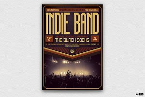 Indie Band Flyer Template V4