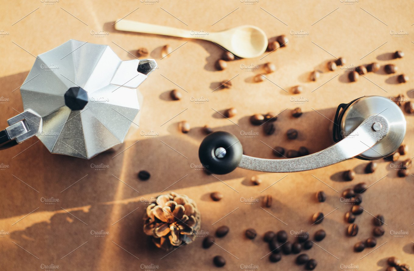 Ge Coffee Maker With Grinder : Coffee maker and grinder ~ Food & Drink Photos ~ Creative Market