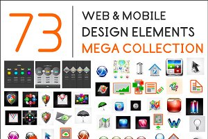 Web & mobile design elements set