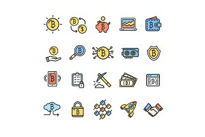 Bitcoin Currency Thin Line Icon