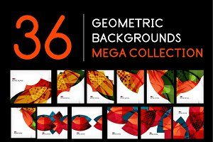 Geometric backgrounds mega set