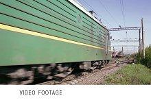 Freight train time lapse