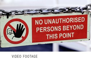 Sign on the boat.