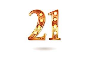 Celebrating of 21 years anniversary