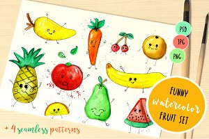 Funny fruits collection