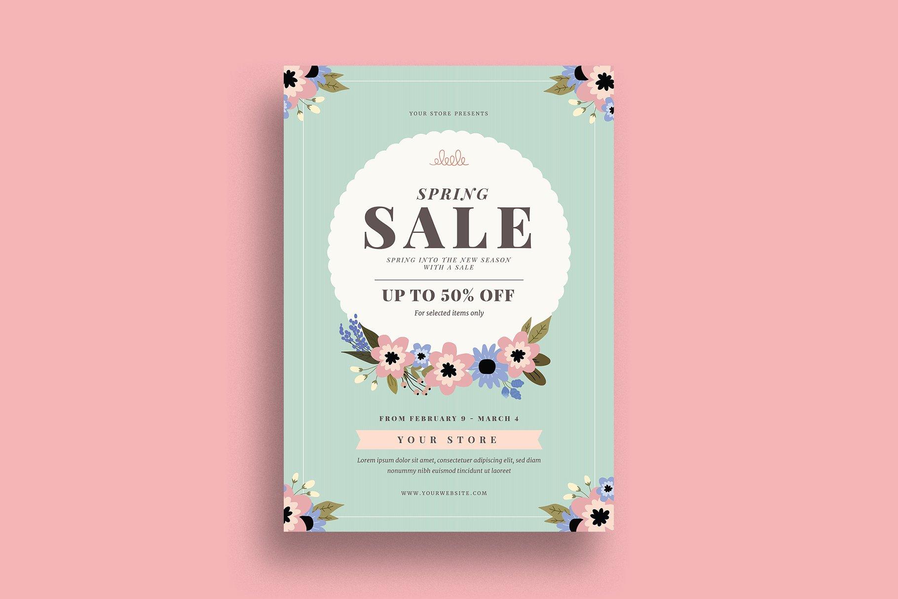 Spring Sale Event Flyer Flyer Templates Creative Market Pro