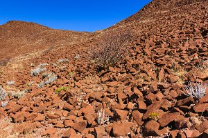 Wall of crater Namibia