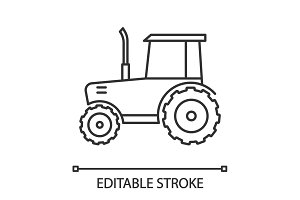 Tractor linear icon