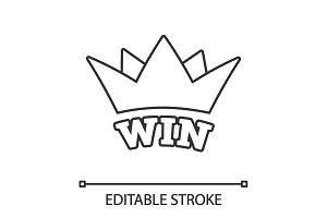 Win linear icon